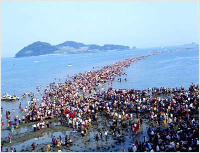 """The famous """"Moses' Miracle"""" sea-parting similar to Red Sea experience in Moses' time."""