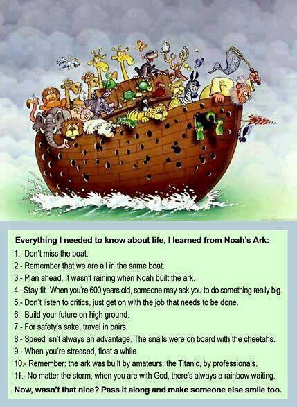 Lesson from Noah's ark