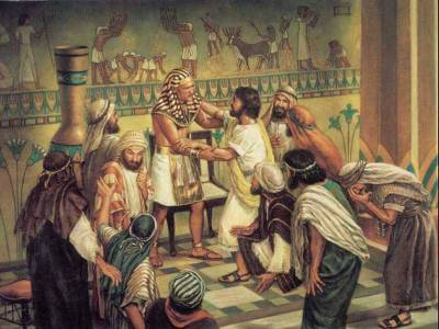 Joseph with his brothers in Egypt