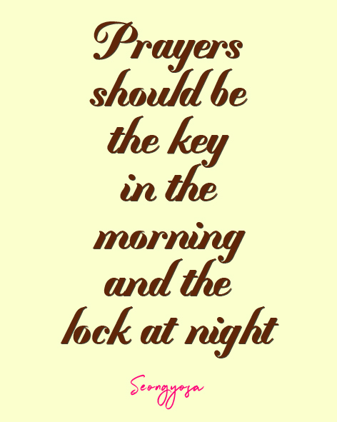 prayers is the key and lock
